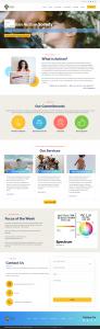Canadian autism society wordpress website screenshot